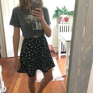 Vintage pleated circle skirt